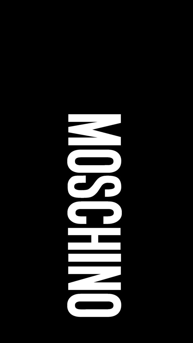 Moschino Black Iphone5 5s Wallpaper Iphone5 Iphone5s Wallpapers