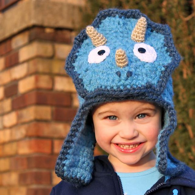 Triceratops Bomber Hat Pattern By Micah York Ravelry Patterns And