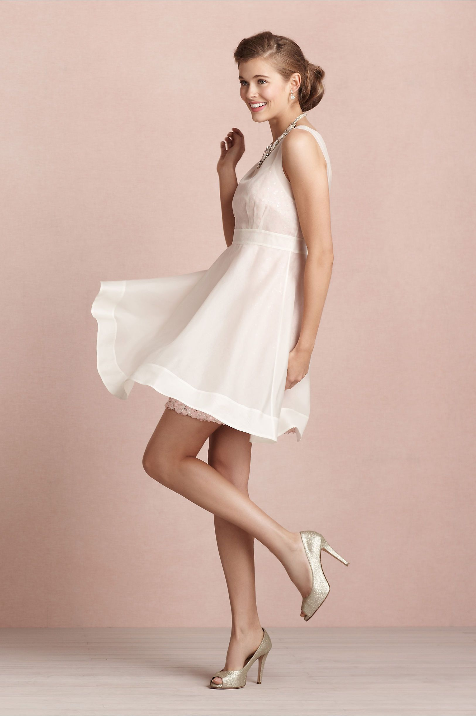 Sequin Stash Dress in Bride Reception Dresses at BHLDN - A sequin ...