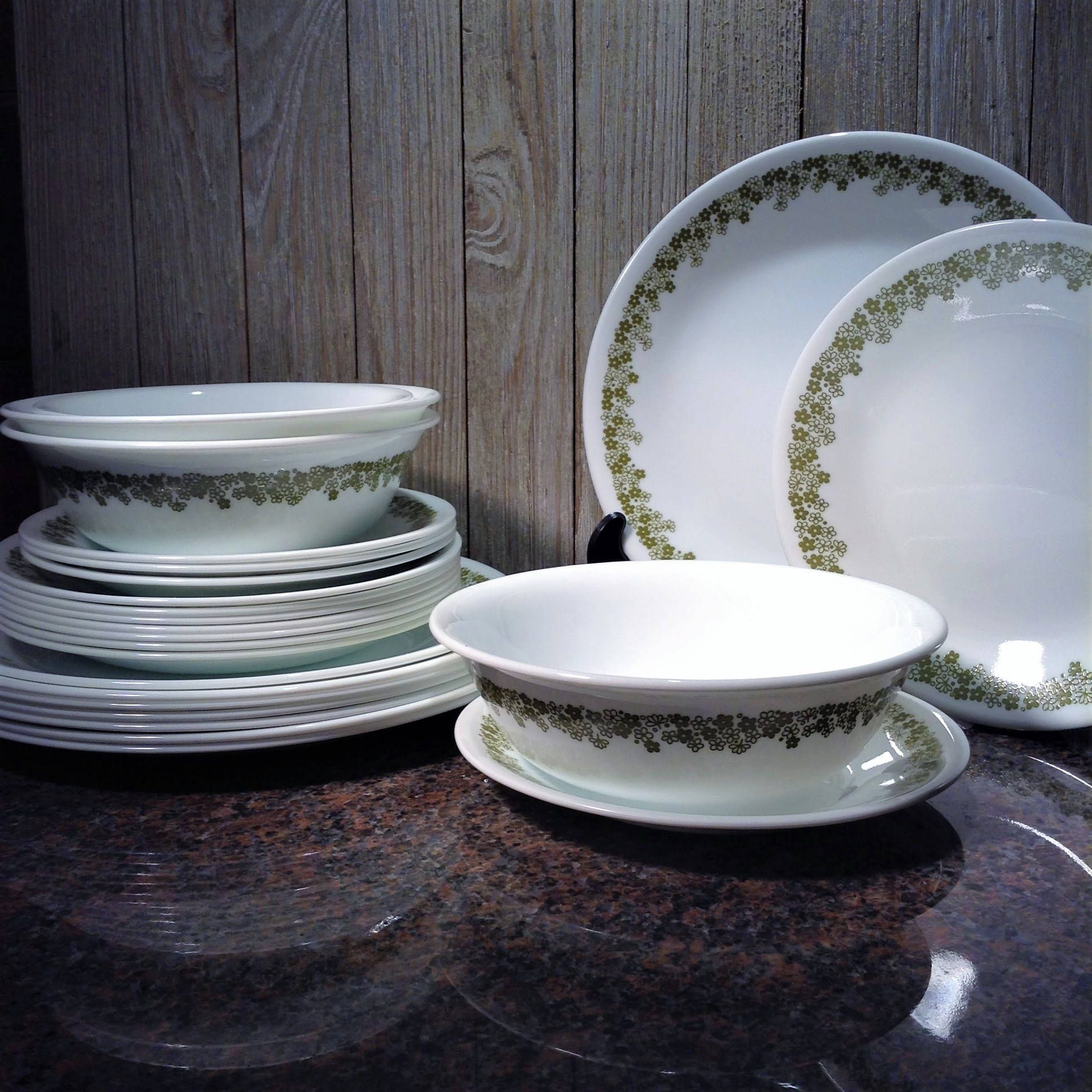 Corelle 25 Pc Crazy Daisy Spring Blossom Dinnerware Set Corning