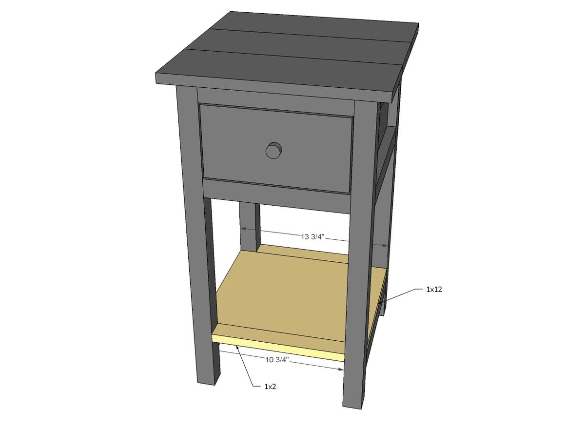 Mini Farmhouse Bedside Table Plans With Images Bedside Table Plans Bedside Table Furniture Plans