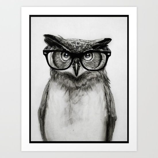 Mr owl art print by isaiah k stephens society6