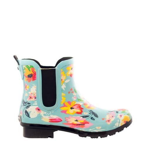 """Roma Boots """"Chelsea Turquoise floral"""""""
