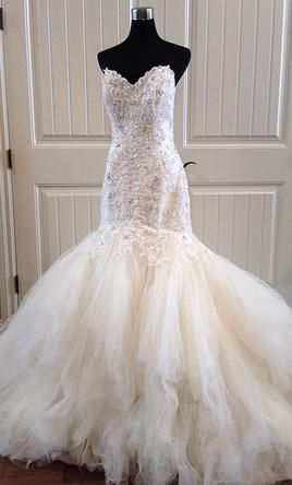 wedding decorations tulle maggie sottero 1 350 size 8 new un altered 9160