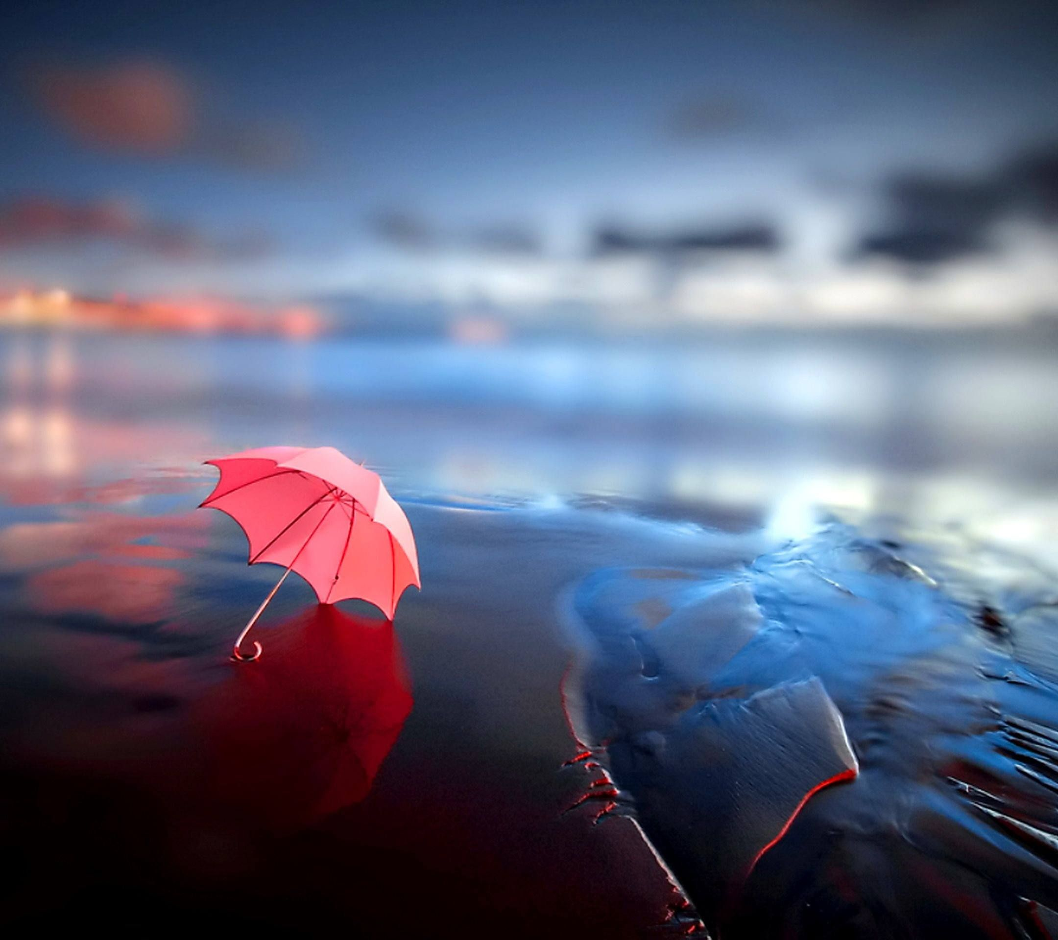 red umbrella on beach wallpaper for android 8194 wallpaper high