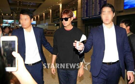 A su llegada al aeropuerto Incheon en Corea