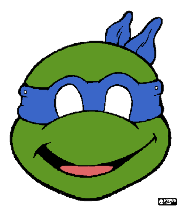 Nerdy image in printable ninja turtles mask