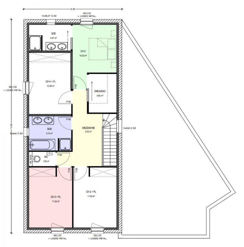 Plan maison 130 m2 etage segu maison - Plan maison 140 m2 etage ...