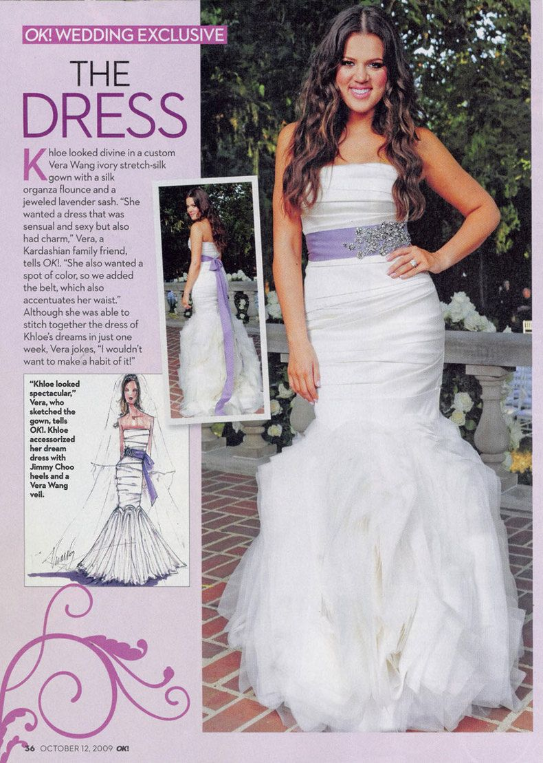 Khloe Kardashianus wedding dress by Vera Wang  Wedding  Pinterest