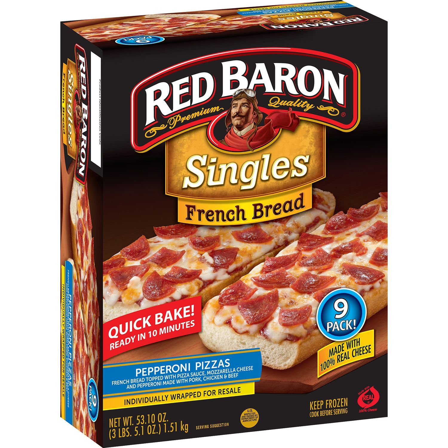 Red Baron French Bread Pepperoni Pizza (9 ct ) - Sam's Club