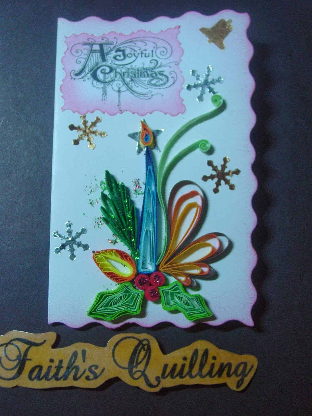 Faiths Quilling  Christmas Cards