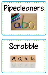 Word Work tags  ~Zeek's Zoo~