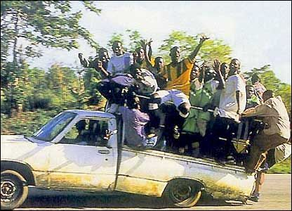 Bbc News Africa In Pictures On The Move An Overloaded Pickup