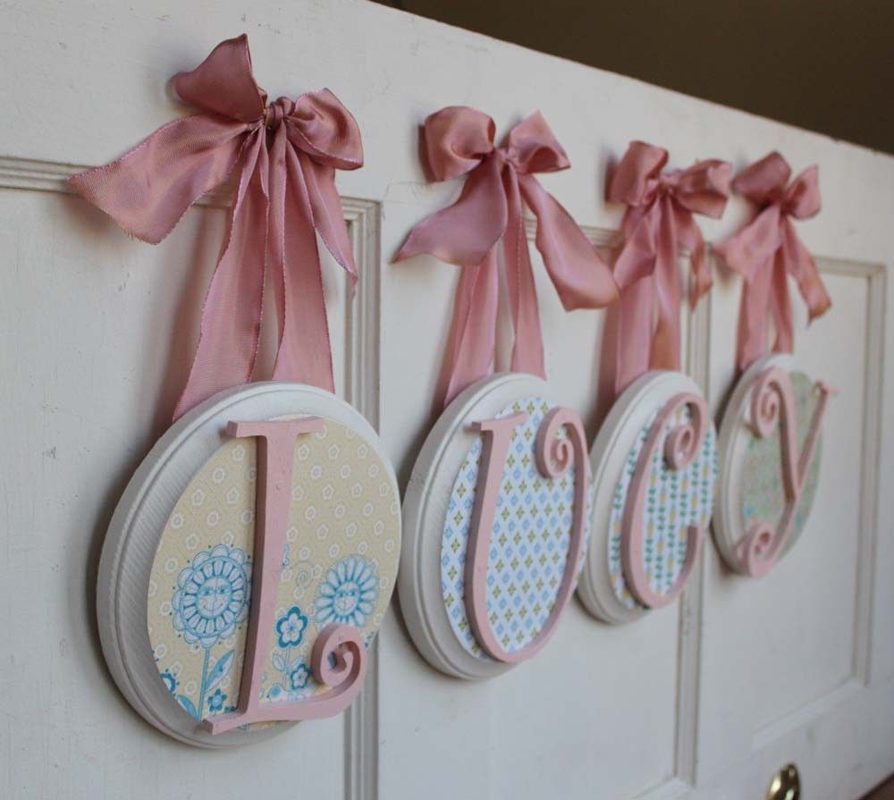 I Love These Wooden Letters Deco Letters Pinterest Wooden