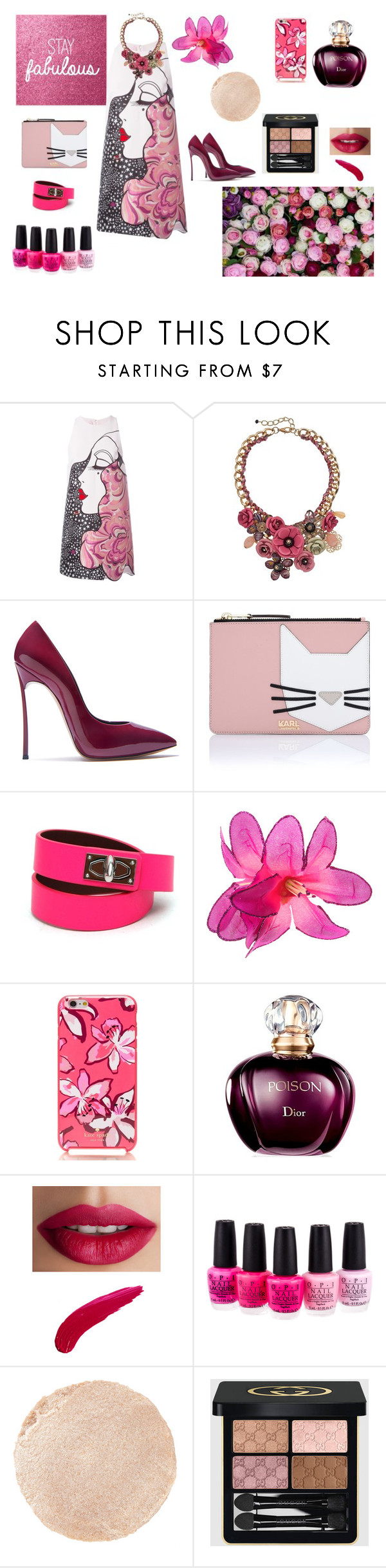 """""""Stay fabulous"""" by maria-tamarindo on Polyvore featuring Giamba, Loli Bijoux, Casadei, Karl Lagerfeld, Givenchy, Kate Spade, TheBalm, OPI, Wander Beauty and Gucci"""
