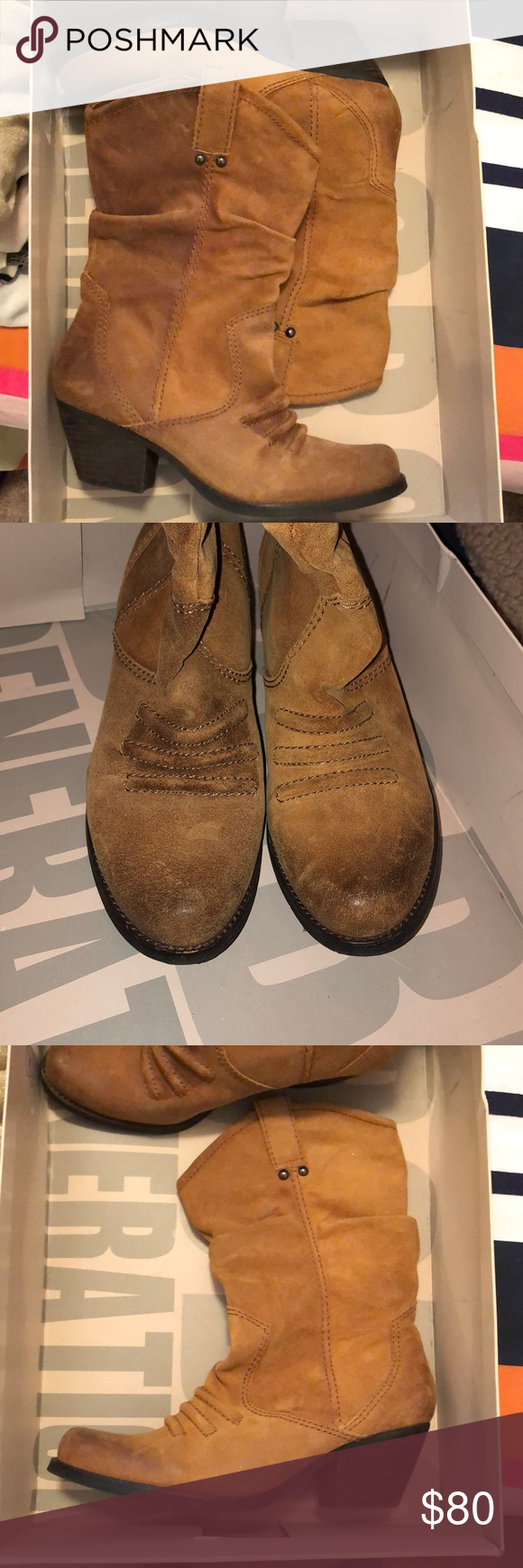 9e3abe1fc53579 BCBGeneration Holland Western Style Boots Overall excellent condition. Only  worn two or three times.