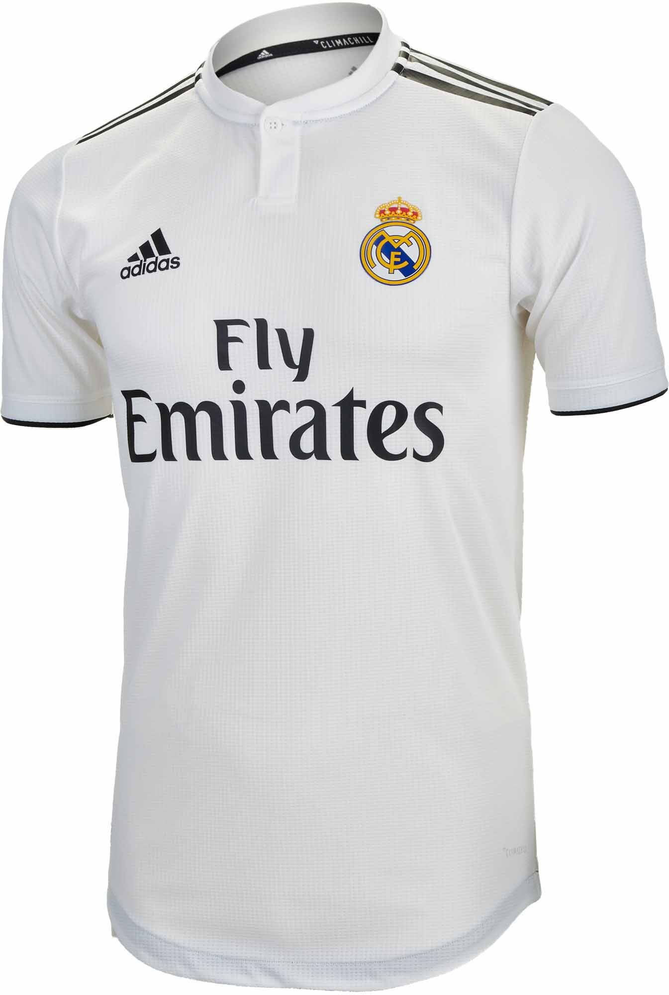 36f4a908050 2018/19 adidas Real Madrid Authentic Home Jersey. Fresh at www.soccerpro.com