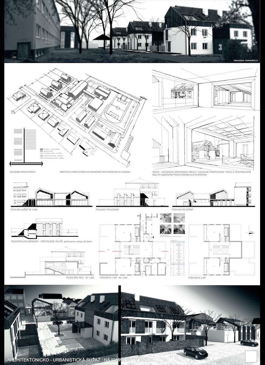 Low Cost Housing With Nursery School Poster2 Jarok
