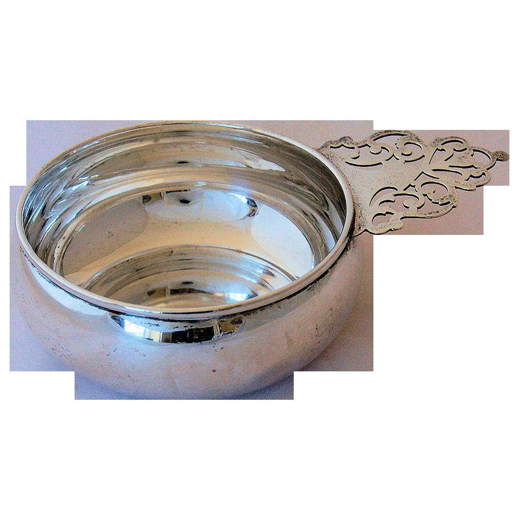 Antique B M Sterling Silver Porringer Porridge Bowl Pierced Handle From Antik Avenue On Ruby Lane Silver Porringer Rubylan Silver Antiques Sterling Silver