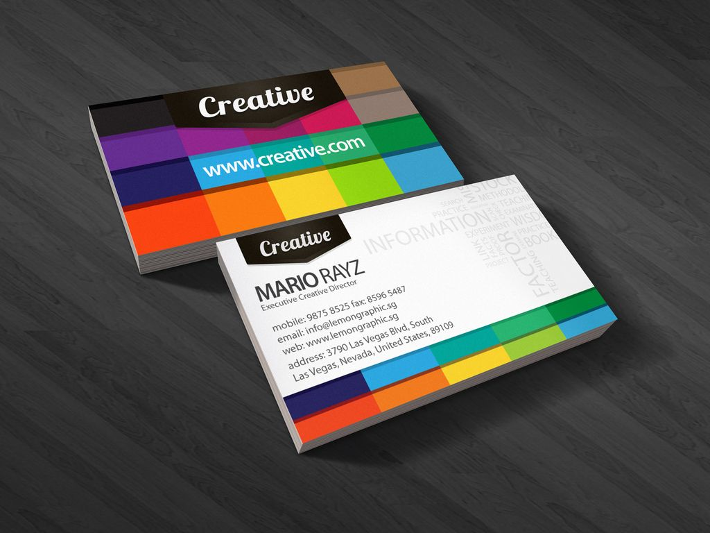 30 colorful business card design examples for your inspiration business cards reheart Gallery