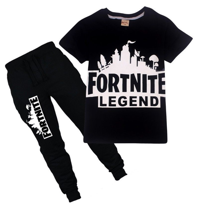 e6890799e2ffe Fashion Kids Boys Fortnite Short Sleeve Shirt Tops+Pants A Suits 6 ...