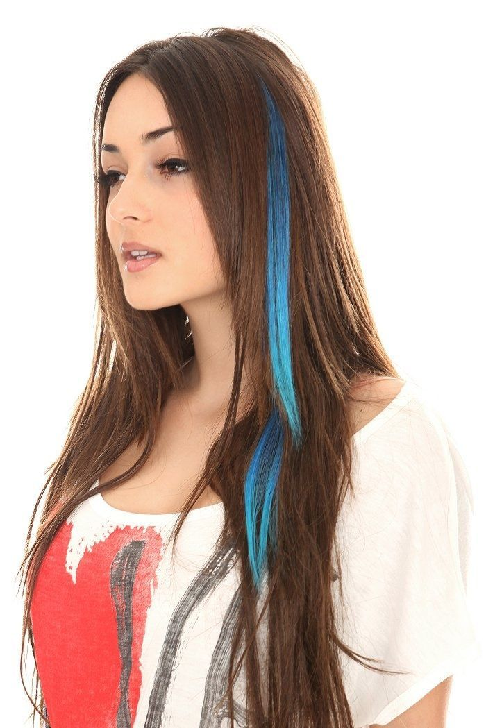 1000 Ideas About Colored Hair Streaks On Pinterest Colored