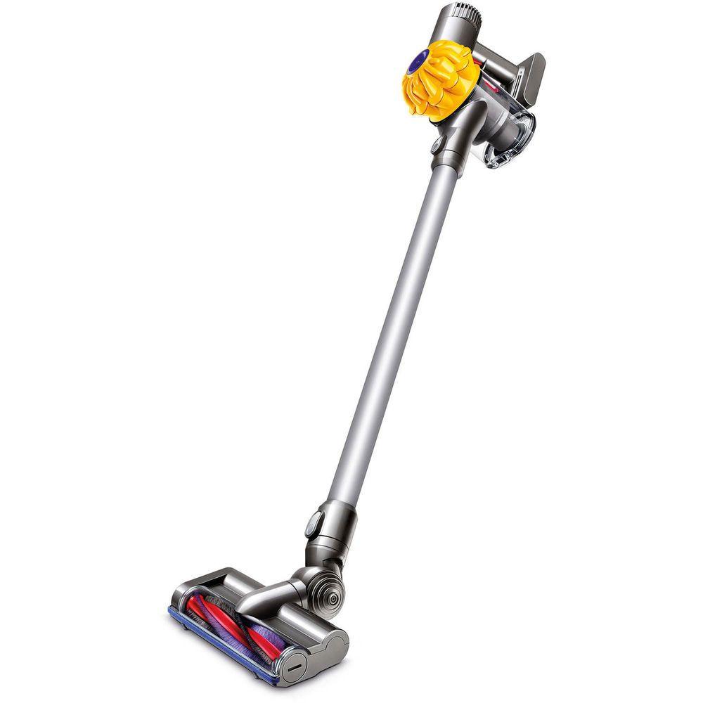 dyson v6 slim cordless stick vacuum sv03 yellowiron