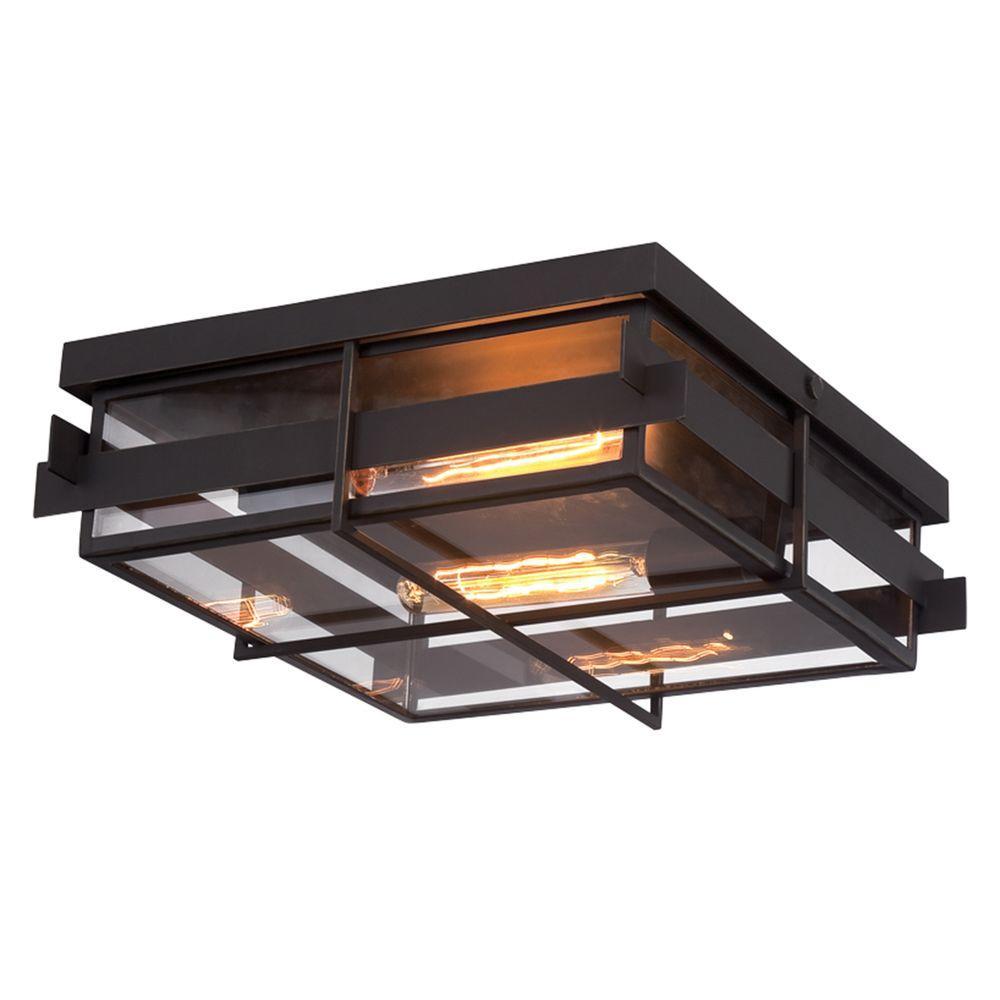 Eurofase Muller Collection 2 Light Bronze Flush Mount 28055 013
