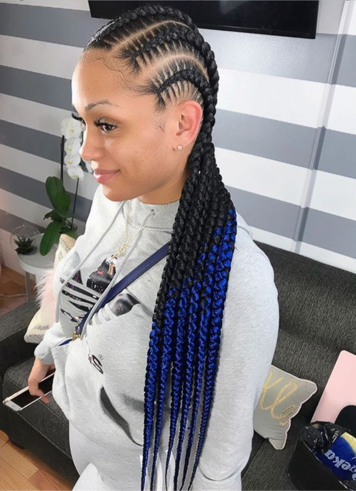 Obre Stitch Braids With Images Braided Hairstyles Hair Styles