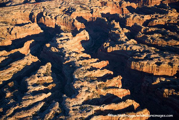 Aerial The Maze District Photos Canyonlands National Park Utah