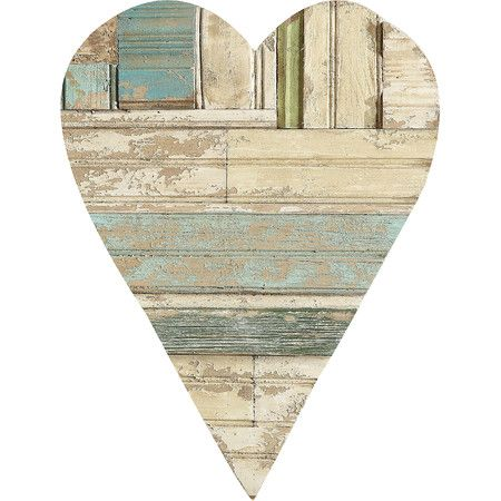 "$48.00 20.25"" H x 13.75"" W Offer charming, homespun appeal to your kitchen or front door with this lovely heart decor, featuring a planked design and weathered finish...."