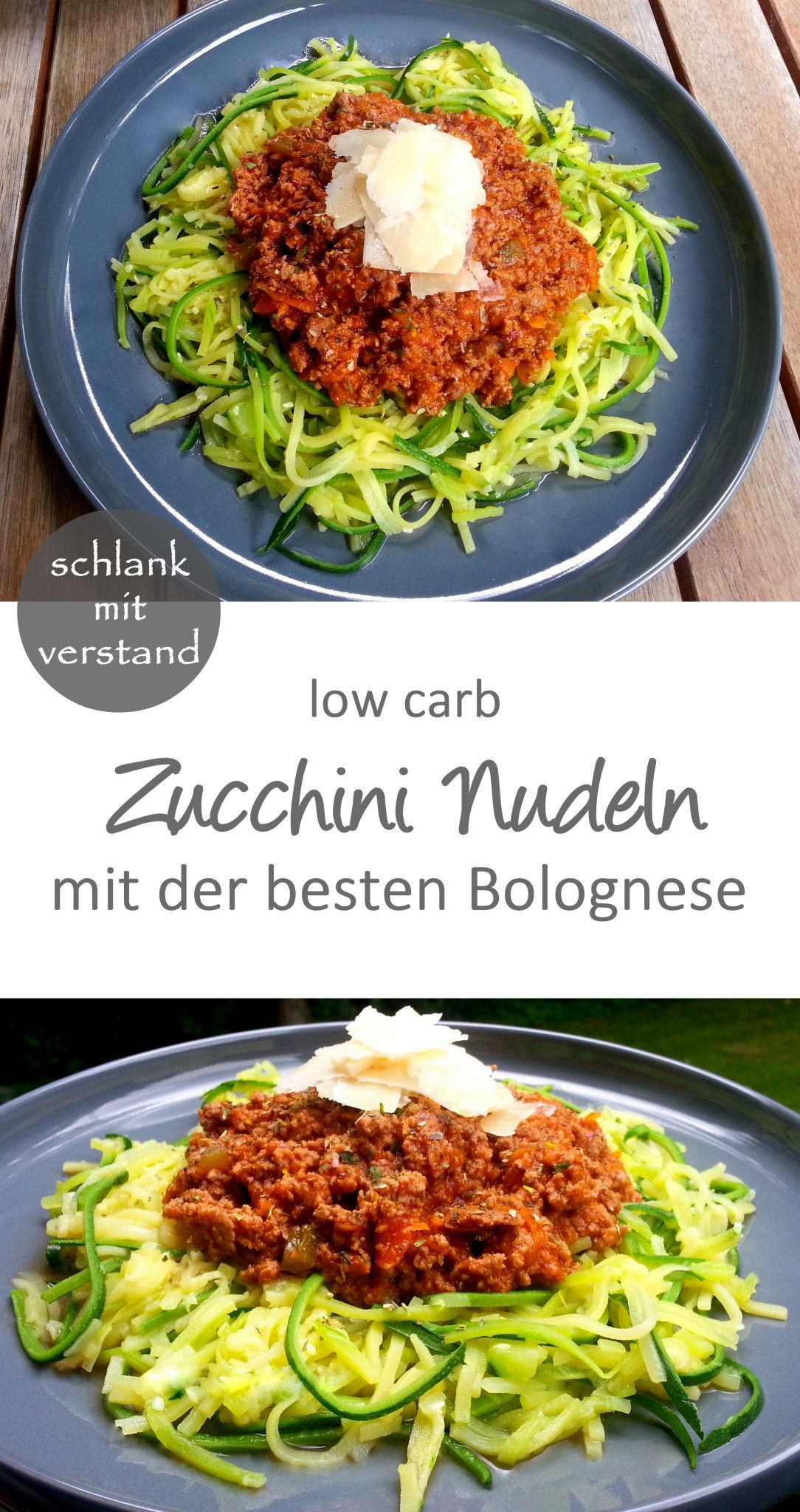 Zucchini Nudeln Bolognese  low carb  Zucchini Pasta Bolognese  low carb  slim with mind