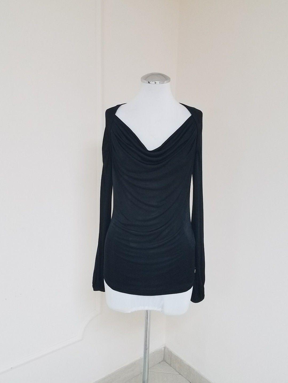 05fe7a990c0e51 64.99   Versace Collection Women's Long Sleeve Top Black EU 40 US 8-10 ❤ # versace #collection #womens #sleeve #denim #ASOS #rippedjeans #SamEdelman  #zara