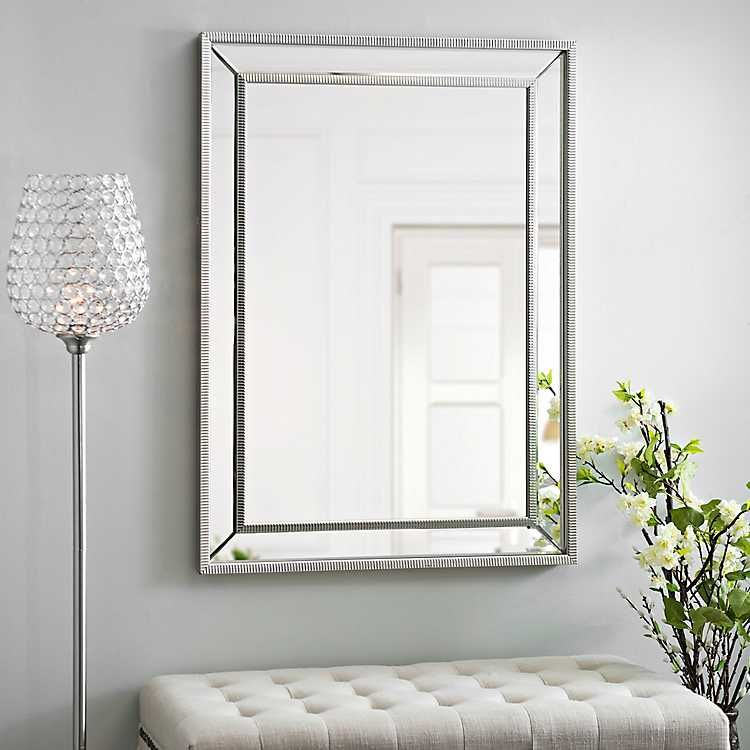 Medium Silver Luxe Mirror 31 5x43 5 In With Images Mirrored
