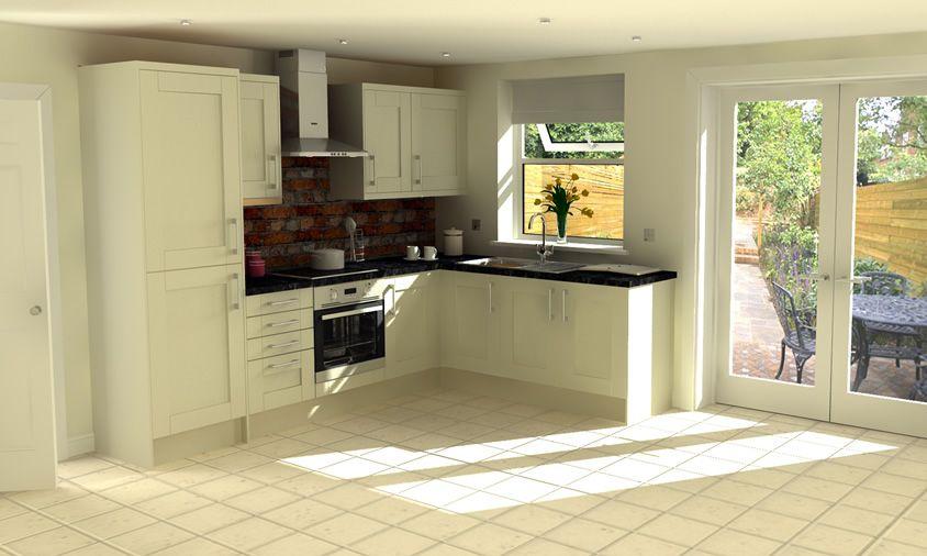 French grey shaker style kitchen ❤   New kitchen diner   Pinterest