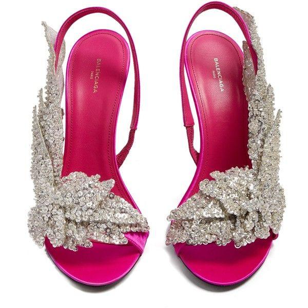 64a0ef6eecb Balenciaga Talon Slash sandal (€1.135) ❤ liked on Polyvore featuring shoes