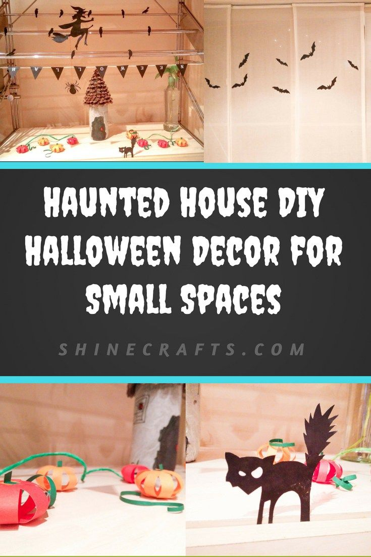 haunted house diy halloween decor for small spaces cat pumpkin