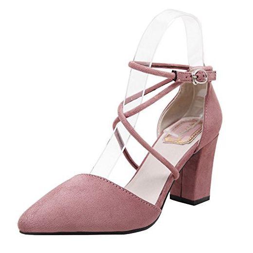 Fereshte Damen Knochel Riemchen Rosa Rose Grosse 37 5 Eu Damen Pumps Partner Link Schuhe Frauen Frauen Sandalen Sommersandalen