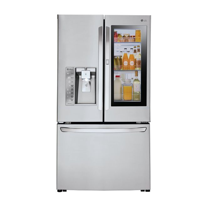 Lg French Door Refrigerator With 24 Cu Ft Stainless Steel Lfxc24796s Rona French Doors Refrigerator Lg