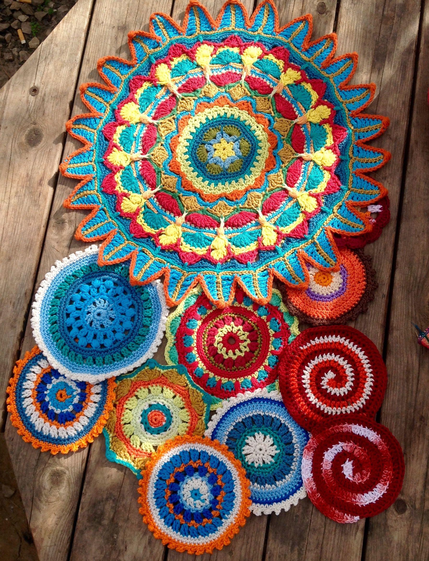 My Mandala Crochet Crochet Mandala Pinterest