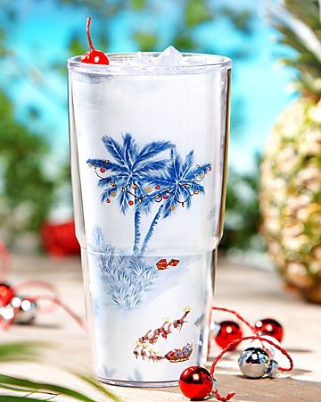 Lovely Dashing Through The Palms Tervis Tumbler® With Lid (# Explore Tommy Bahama  Barware, Decor