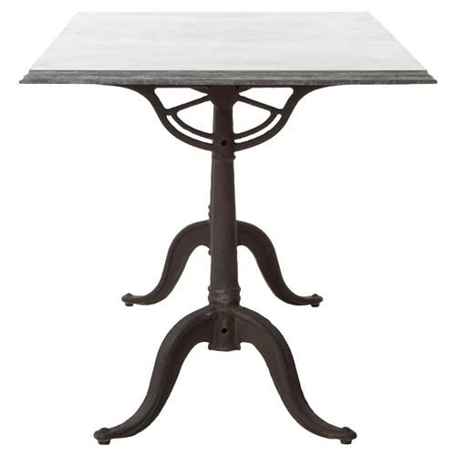 Pierre French Industrial Bluestone Bistro Dining Table - 64 Inch #frenchindustrial