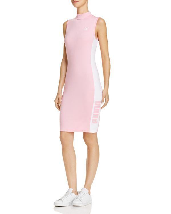 4baa983afb9 Puma T7 Mock Neck Dress Tight Dresses