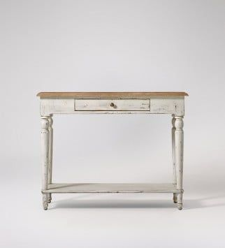 Exceptional Florence, Console Table, Distressed White