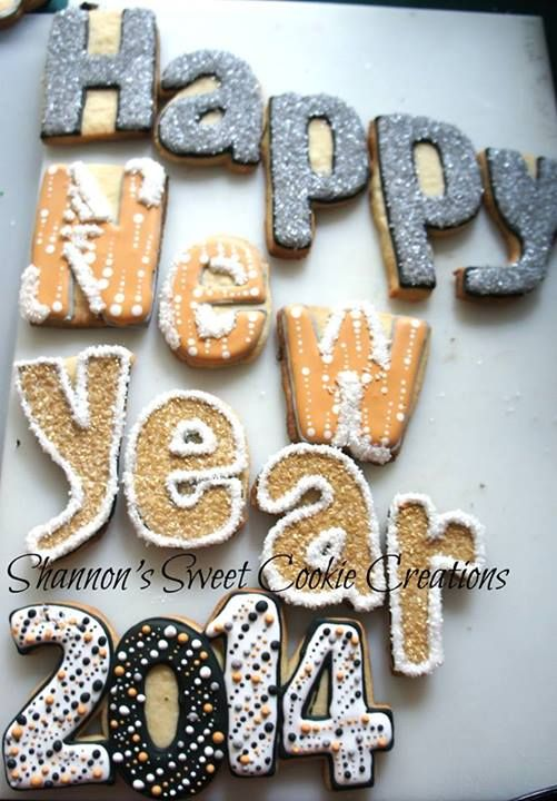 Pin by Triana Baker on New Year's Eve | Cookie decorating ...