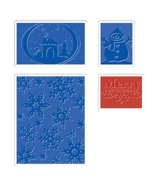 Sizzix Impressions Embossing Folders-Christmas at Joann.com