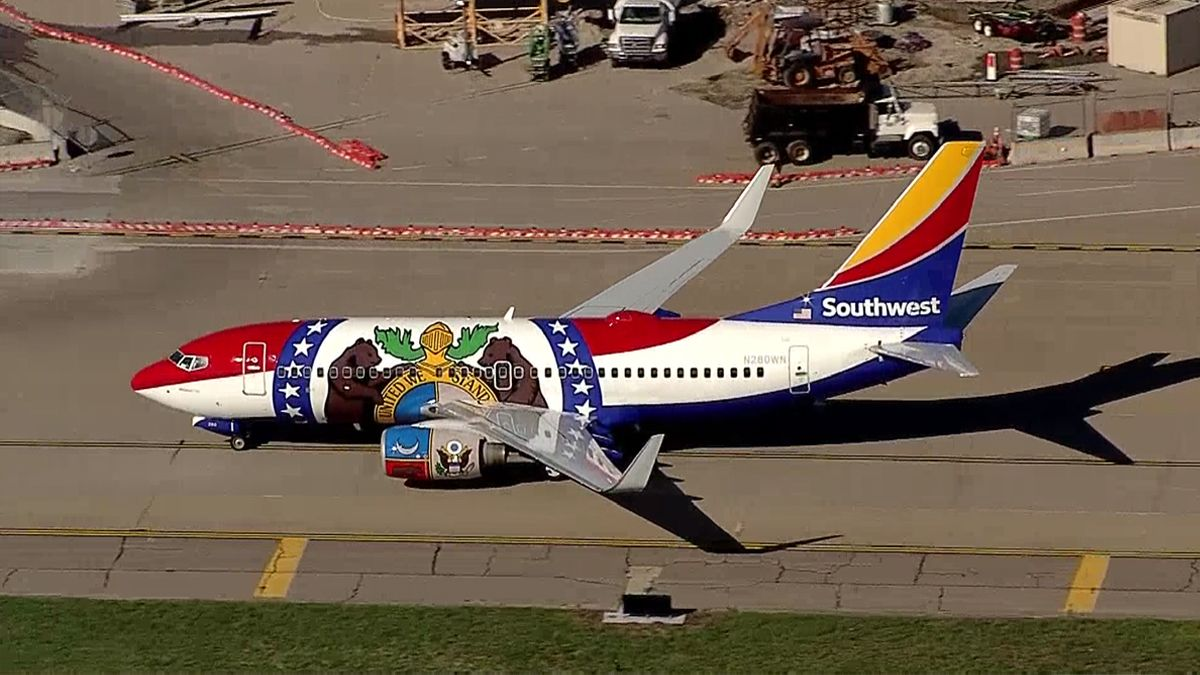 Southwest just landed the 'Missouri One' at Dallas Love