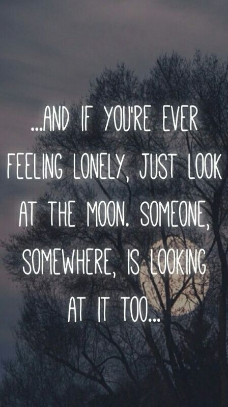Moon Lonely And Quote Image Quotes Feeling Lonely