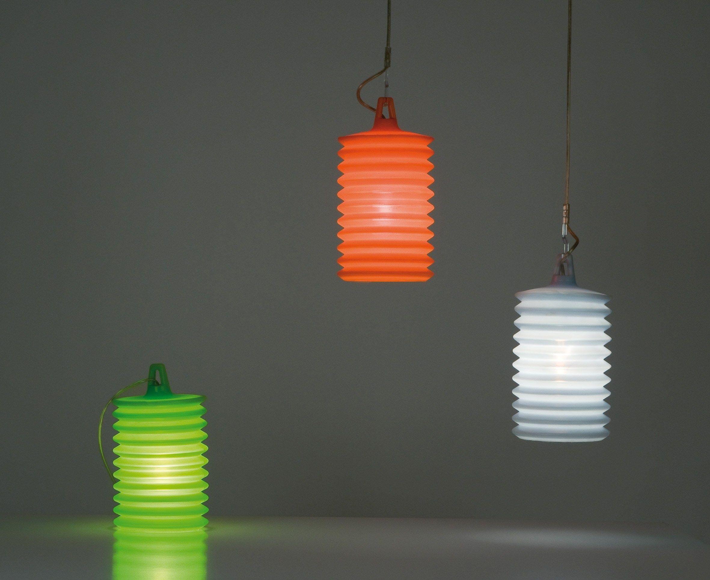 Lampada da tavolo per esterno a LED in silicone LAMPION T1 ...
