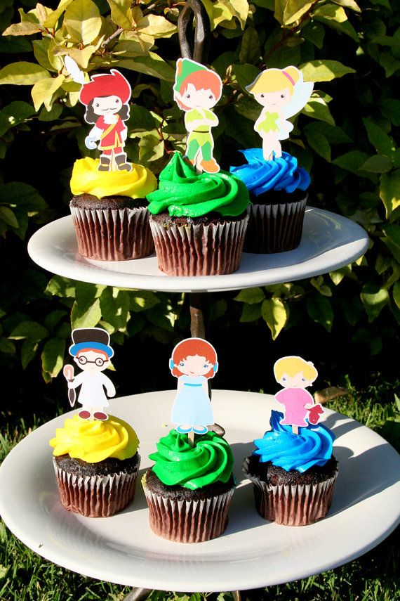 Peter Pan Party Cupcake Toppers Set Of 12 By